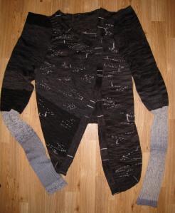 pre felting sweater