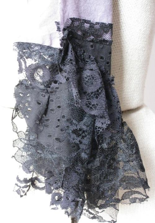 lace fringe scarf ruffle